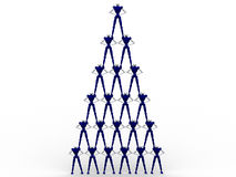 Pyramid Of Peolple. 3d Pyramid Of People stock illustration