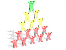 Pyramid of people Royalty Free Stock Photo