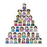 Pyramid of people icons for your design. This file is EPS10 vector and it includes transparency effects Royalty Free Stock Images