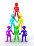 Pyramid from people. Leadership Stock Photography