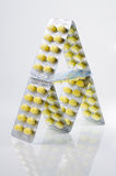 Pyramid pill packs Stock Photography