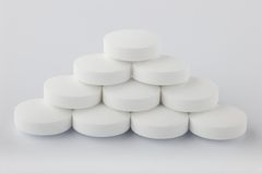Pyramid pills Stock Photography