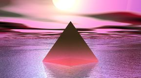 Pyramid pink Stock Photo