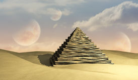 Pyramid and Planets Stock Image