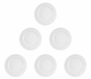Pyramid of plates Royalty Free Stock Images