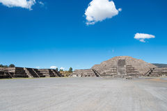 Pyramid and Plaza of the Moon Stock Images