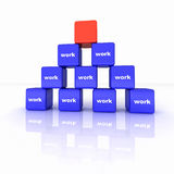 pyramid of power Royalty Free Stock Photos