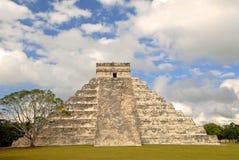 Pyramid Power. The big Pyramid in Chichen Itza, Mexico Royalty Free Stock Photo