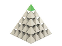 Pyramid from pyramids royalty free illustration