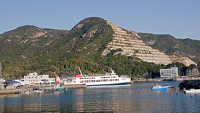 The pyramid in the quarries on the island Shodoshima - Japan Stock Photography