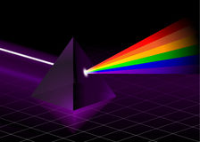 Pyramid with Rainbow Stock Images