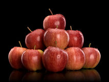 Pyramid from red apples Royalty Free Stock Images