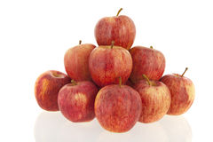 Pyramid red apples Stock Images