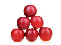 Pyramid of red apples Royalty Free Stock Photography