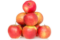 Pyramid of red apples Royalty Free Stock Image