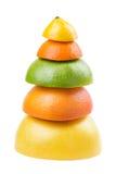 Pyramid of ripe fruit Stock Image