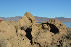 Pyramid in the Rock Formation Royalty Free Stock Photo