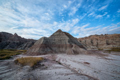Pyramid rock formation in Badlands National Park. Unique pyramid rock formation in Badlands South Dakota Royalty Free Stock Photo