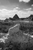 Pyramid rock formations Stock Images