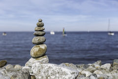 The Pyramid. Rocks on the beach it'a an art Royalty Free Stock Image