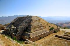 Pyramid Ruins, Mexico. The pyramid ruins of Monte Alban - Oaxaca, Mexico Royalty Free Stock Photography
