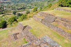 Pyramid ruins of San Felipe los Alzati, Zitacuaro, Mexico Stock Photo