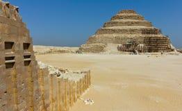 pyramid saqqara Arkivbild