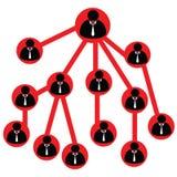 Pyramid scheme Royalty Free Stock Image