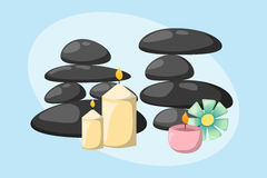 Pyramid from sea pebble relax heap stones isolated and healthy wellness black massage meditation natural tool spa. Balance therapy zen vector illustration vector illustration