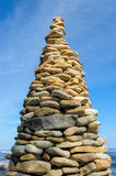 Pyramid on the seashore Royalty Free Stock Image
