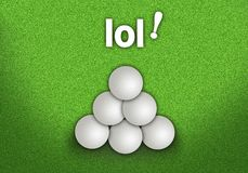 A Pyramid Shape of Golf Balls Stack Stock Photos