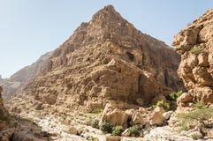 Pyramid shape hill slop. Pyramid shaped valley slope Stock Photo