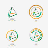 Pyramid shape line design Royalty Free Stock Images