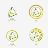 Pyramid shape line design Royalty Free Stock Photos