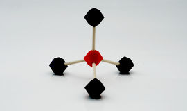 Pyramid shape molecular model Stock Image