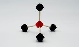 Pyramid shape molecular model. For organic chemistry Stock Image