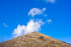 Pyramid shaped mountain Rtanj on a sunny day Stock Image