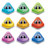 Pyramid shaped smiling balls Stock Photos