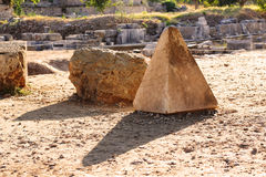 Pyramid shaped stone in Ephesus Stock Photo