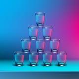 Pyramid of shots Stock Photo