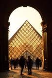 Pyramid silhouette see through Royalty Free Stock Photos