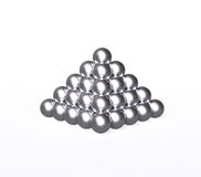 Pyramid with silver balls Stock Images