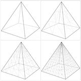 Pyramid From The Simple To The Complicated Shape Vector 09. Pyramid From The Simple To The Complicated Shape Isolated Vector Stock Photos