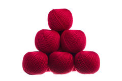 Pyramid of skeins of yarn. Pyramid of skeins of yarn stock photography