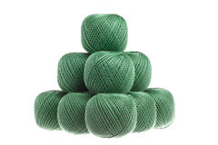 Pyramid of skeins of yarn. Pyramid of skeins of yarn royalty free stock photography