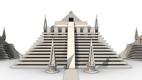 Pyramid Sketch. High quality 3D rendered sketch of a Pyramid Sketch. Unique design, highly detailed architectural artwork. Minarets, domes, towers, gates, walls Royalty Free Stock Photos