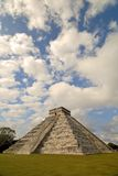 Pyramid Sky. The big pyramid in Chichen Itza, Mexico Stock Images