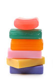 Pyramid of soaps. Isolated on white background Stock Photography