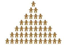 Pyramid of social classes. Pyramid of dolls representing different social levels Royalty Free Stock Image