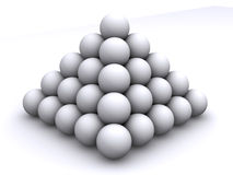 Pyramid from spheres Stock Photo